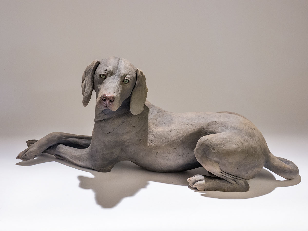 Dog Sculpture - Nick Mackman Animal Sculpture