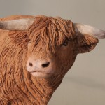 Highland Bull sculpture