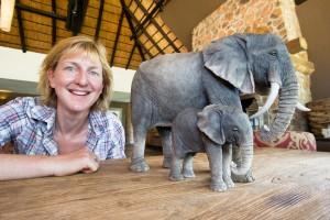 Mfuwe-elephant-sculptures s