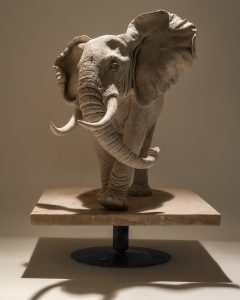 Bull Elephant Sculpture
