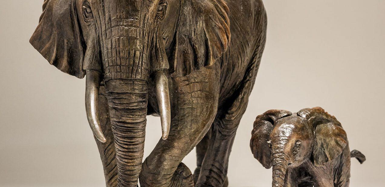 Bronze Elephant Sculpture Sold Out - Nick Mackman Animal Sculpture