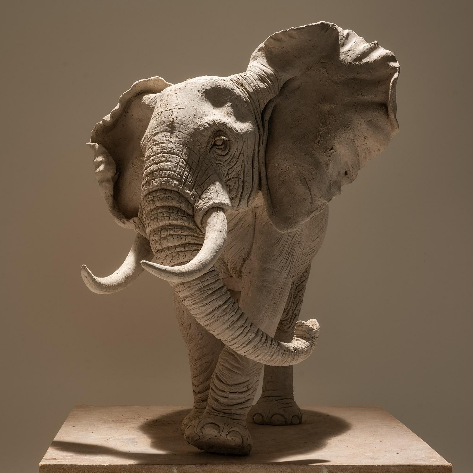 African Elephant Sculpture in Bronze