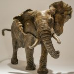 Bronze Elephant Sculpture