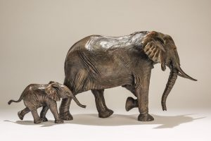 Bronze Elephant Sculptures