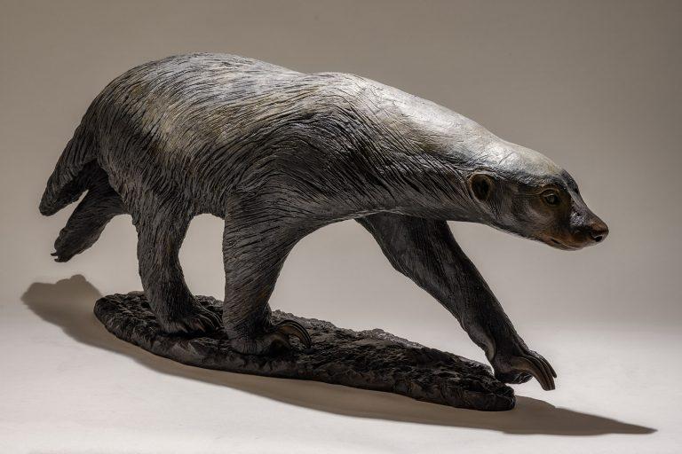 Bronze Honey Badger Sculpture