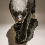 Honey Badger Sculpture Bronze