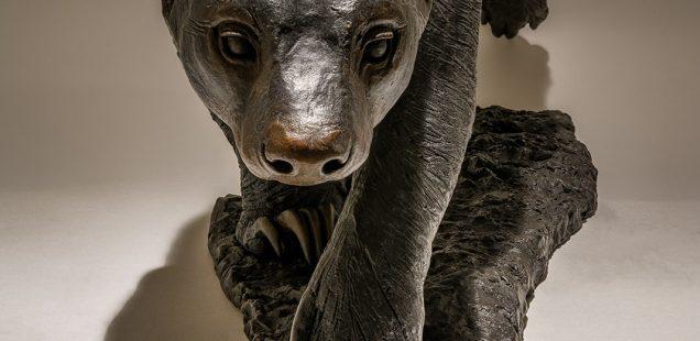 Honey Badger Sculpture Bronze