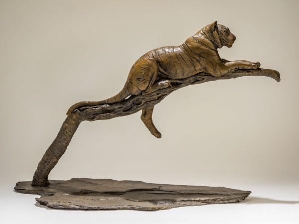 Bronze Tiger Sculpture