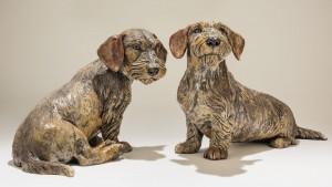 Dachshund Dog Sculptures
