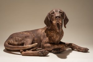 German Short-Haired Pointer Dog Sculpture