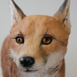 fox cub sculpture