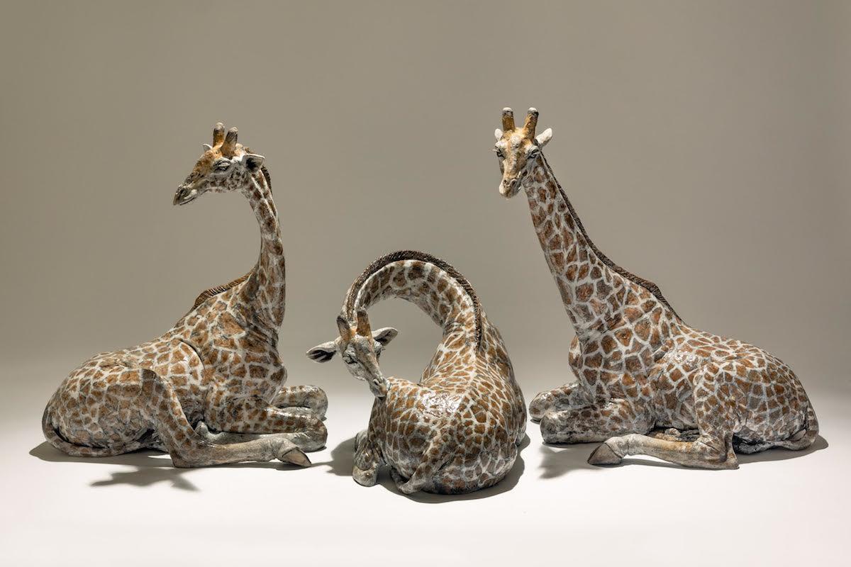 Giraffe sculptures – The Three Graces