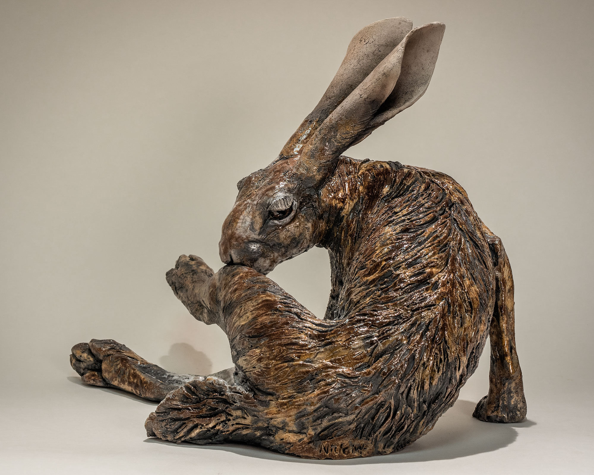 Hare Sculpture 163 1950 Sold Nick Mackman Animal Sculpture