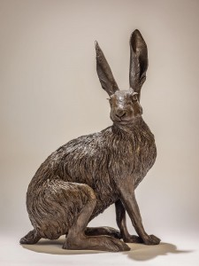 hare-sitting2-cold-cast-bronze-NickMackman