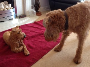 Irish Terrier Sculpture