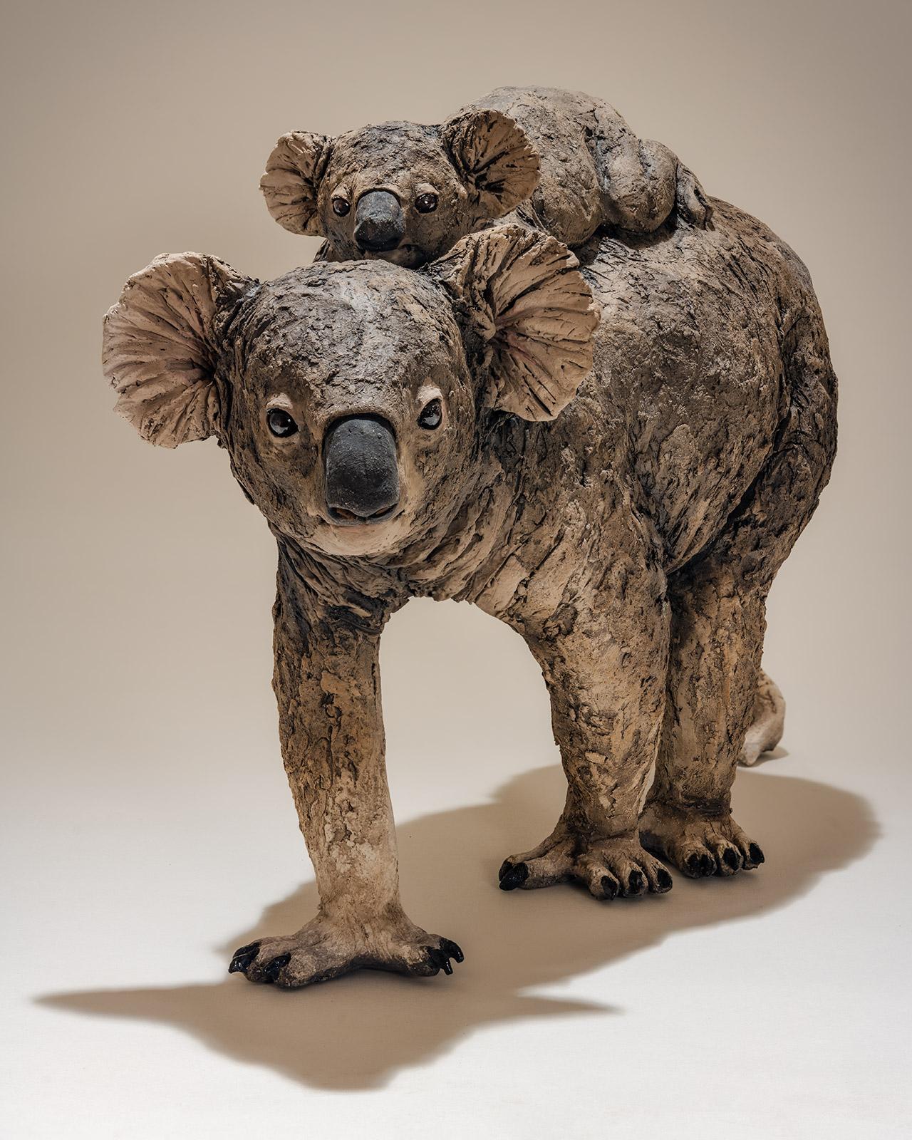 Koala and Baby Sculpture