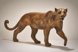 Bronze Leopard Sculpture
