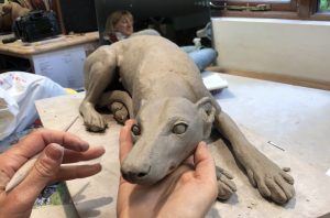 Making Dog Sculpture