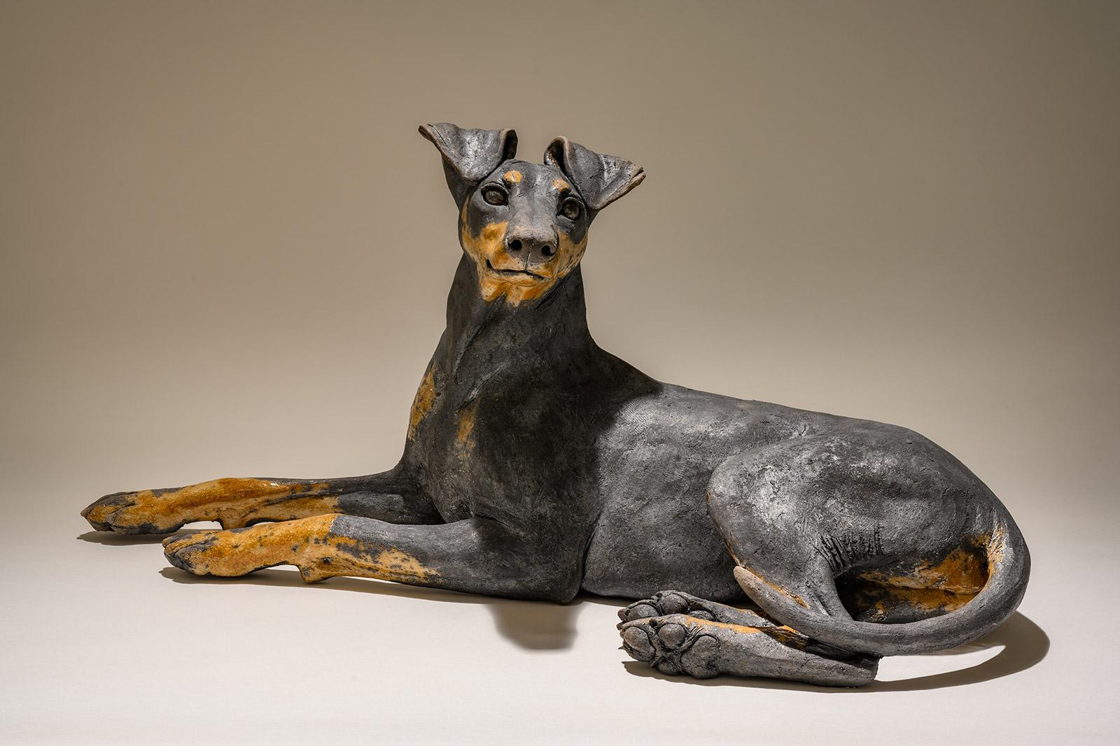 Manchester Terrier Dog Sculpture