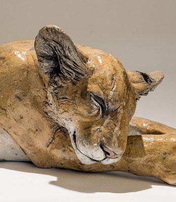 Lion Cub Sculptures