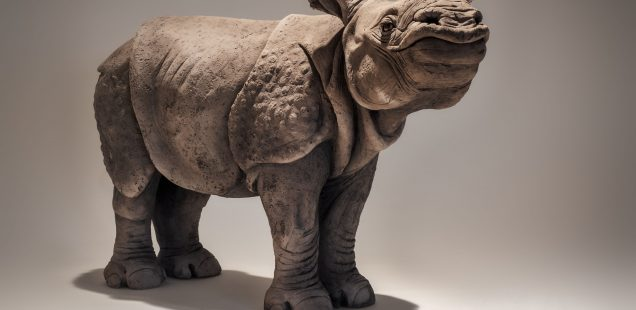 Indian Rhino Sculpture