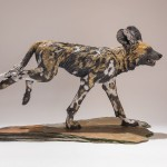 Painted Dog Sculpture Commission
