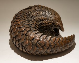Bronze Pangolin Sculpture