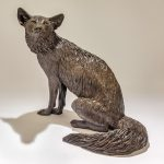Resin Fox Sculpture