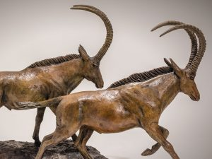Bronze Antelope Sculpture