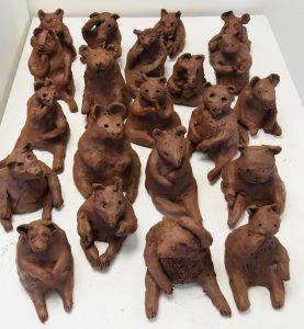 workshop animal sculptures