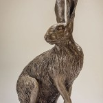 Hare Sculpture Sitting