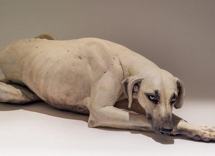 Sloughi Dog Sculpture
