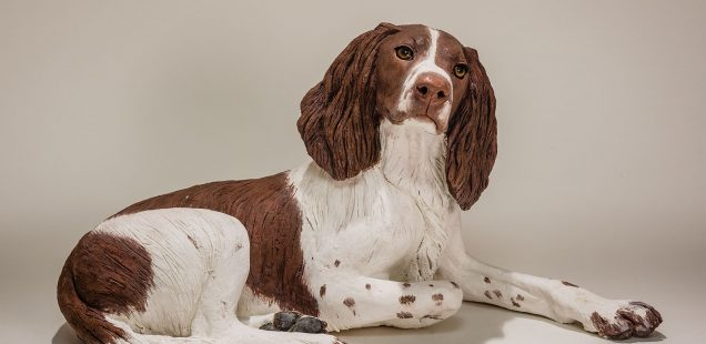 Springer Spaniel Sculpture