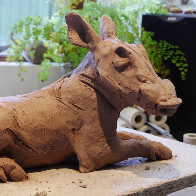 Warthog Sculpture Family