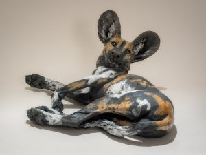 Wild Dog Pup Sculpture