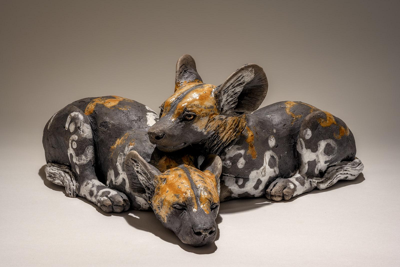 Wild Dog Pup Sculpture