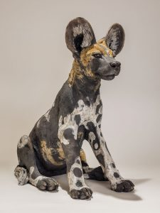 Wild Dog Sculpture