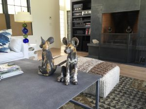 Wild Dog Pup Sculptures