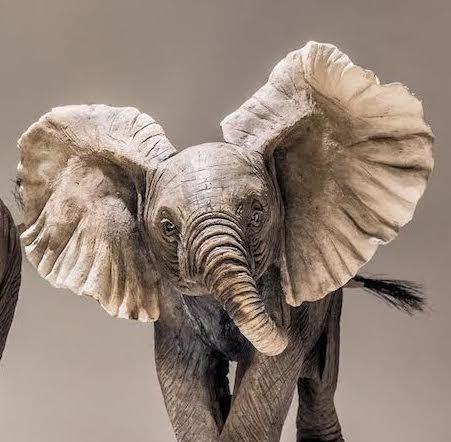 Baby Elephant Sculptures