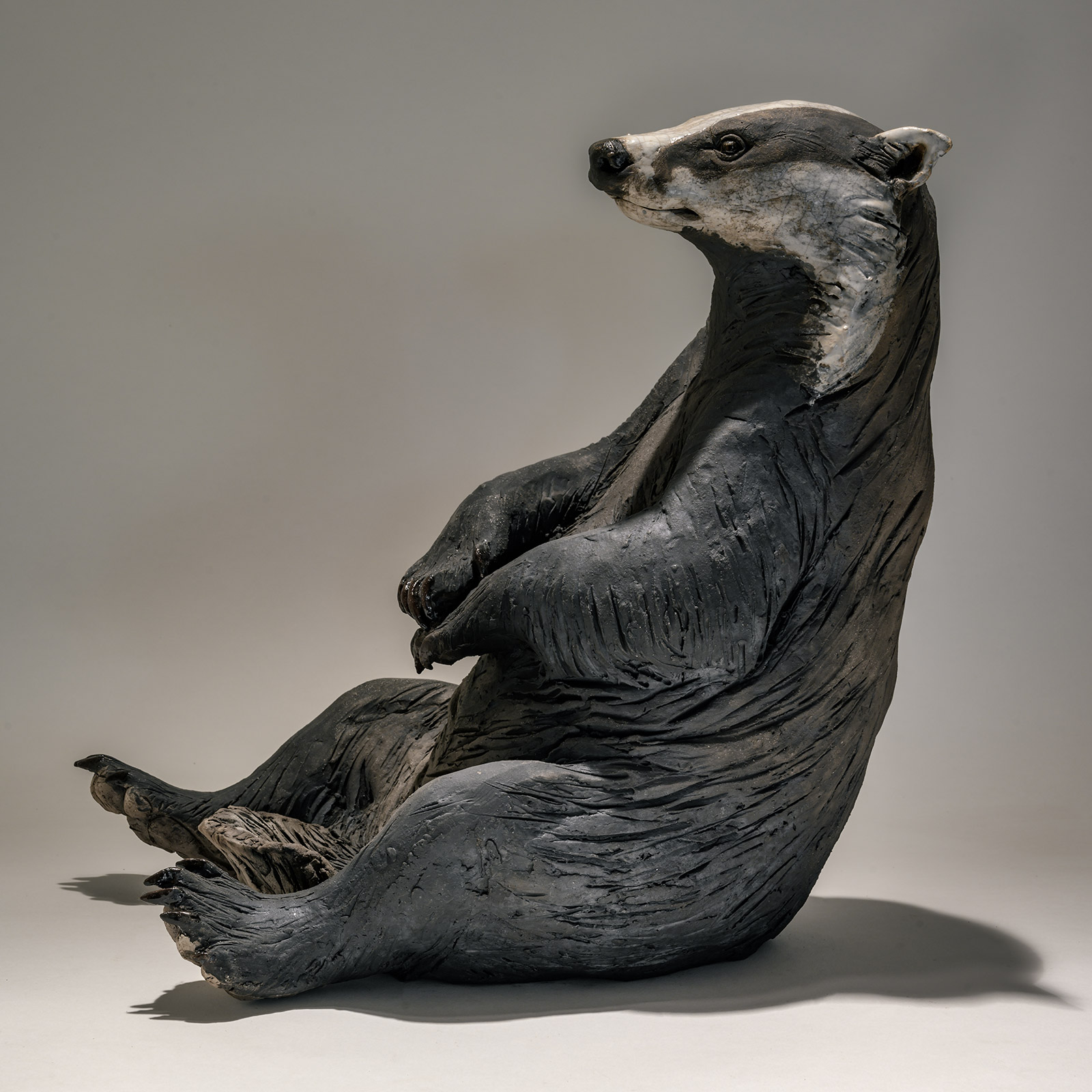 Badger Looking Out £1495 <span>SOLD</span>