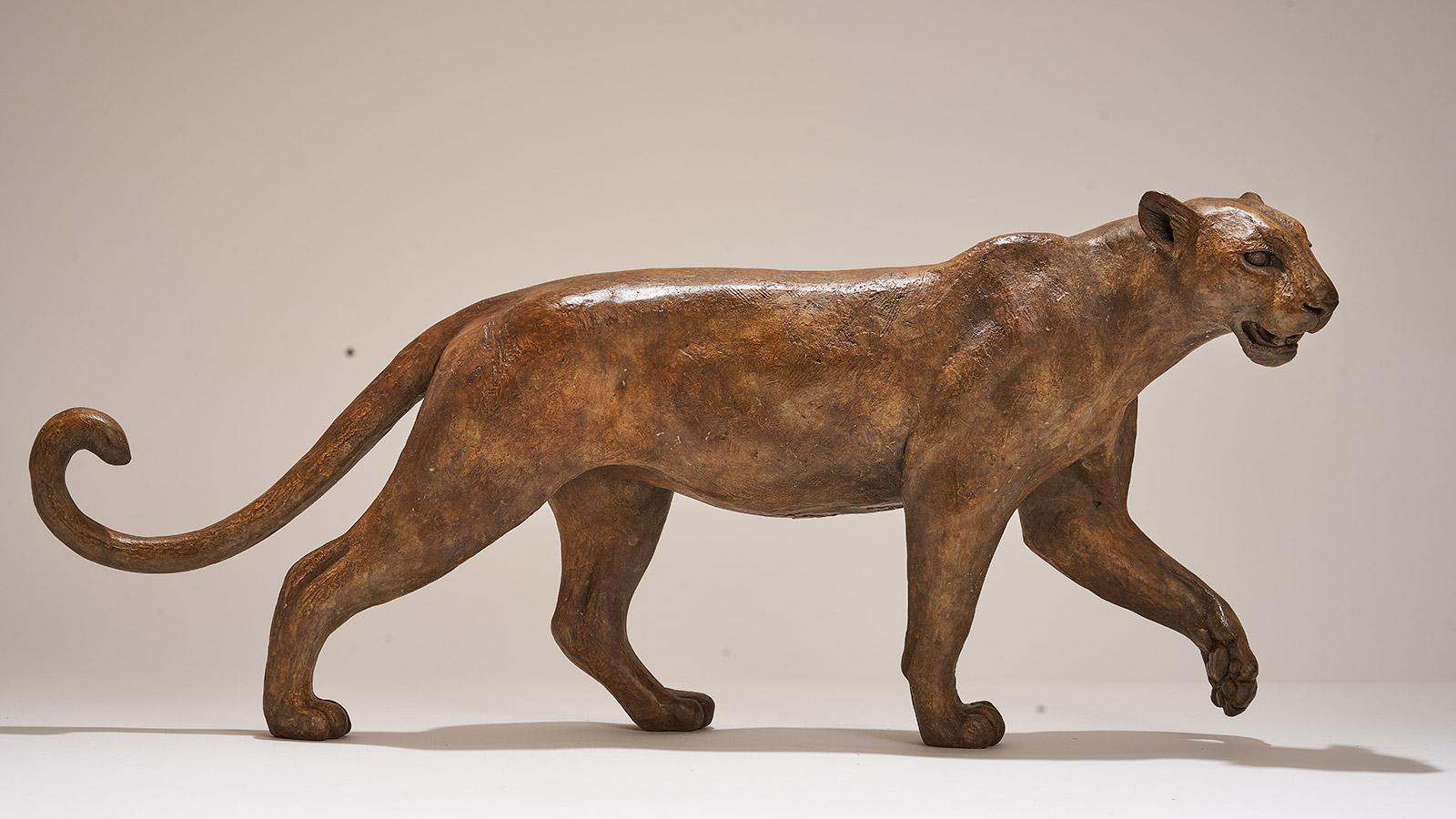 Bronze Leopard Sculpture