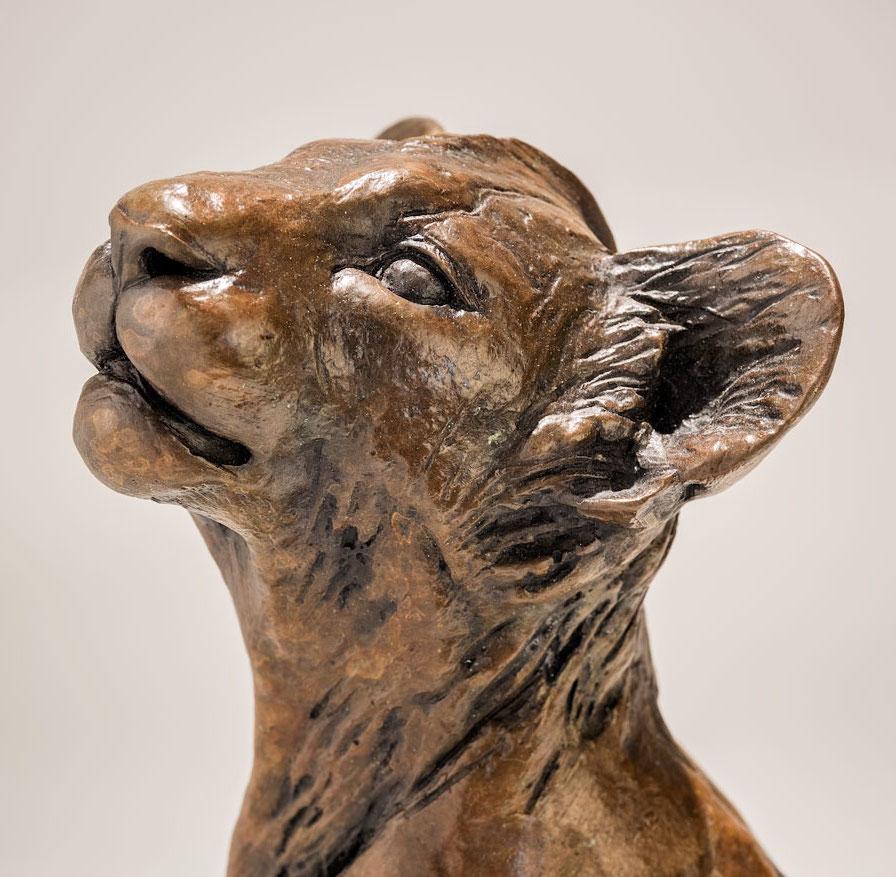 Bronze Lion Cub Sculpture