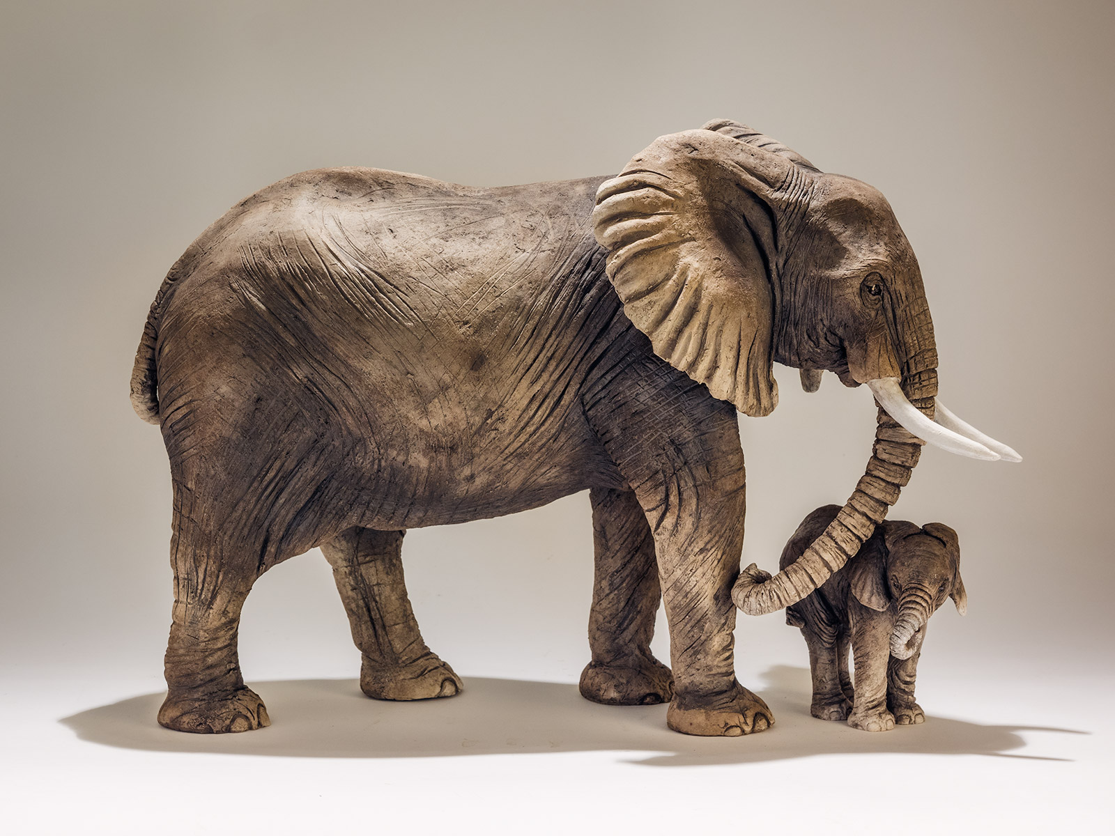 Elephant Baby Sculpture