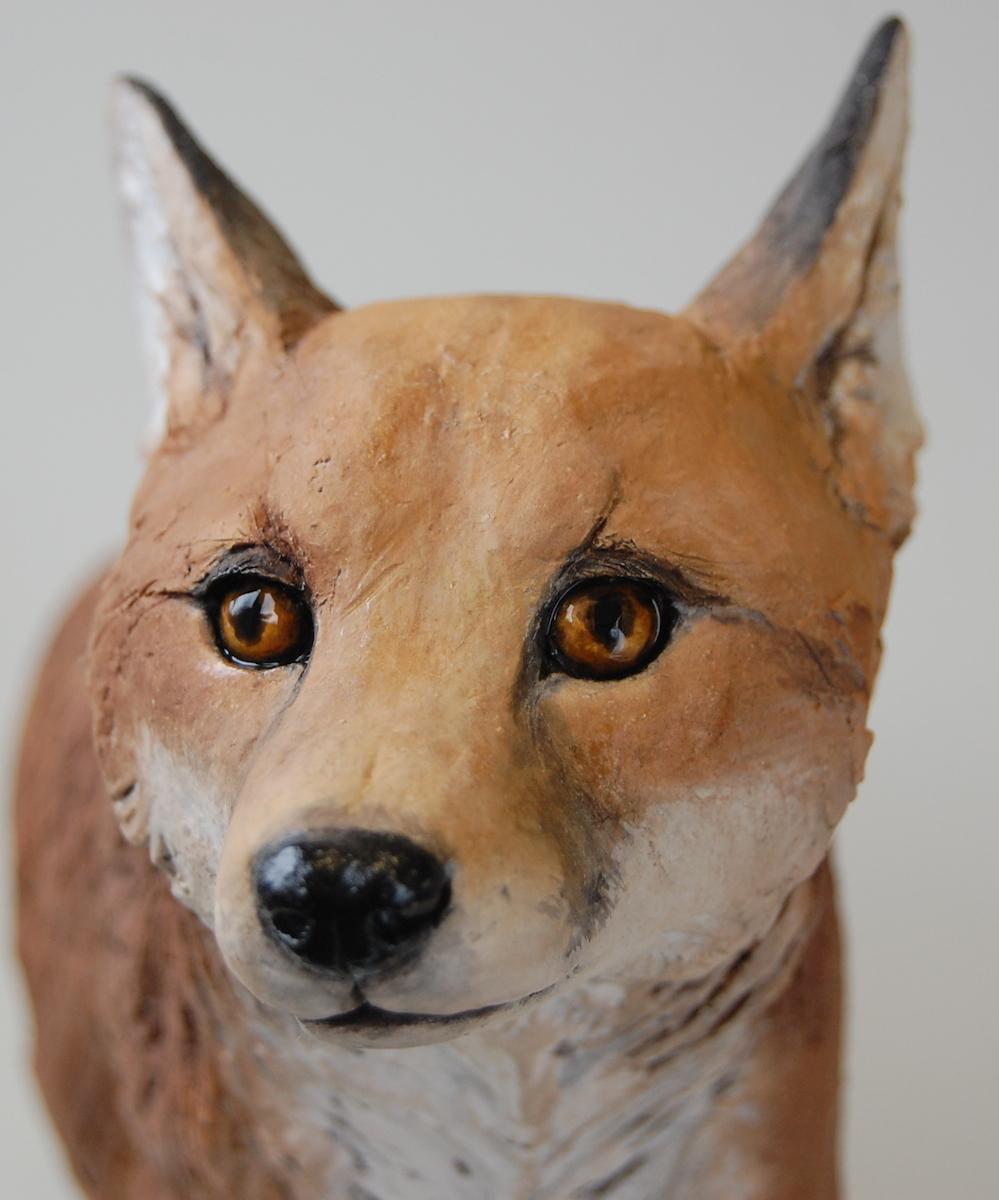 Fox Cub Sculpture