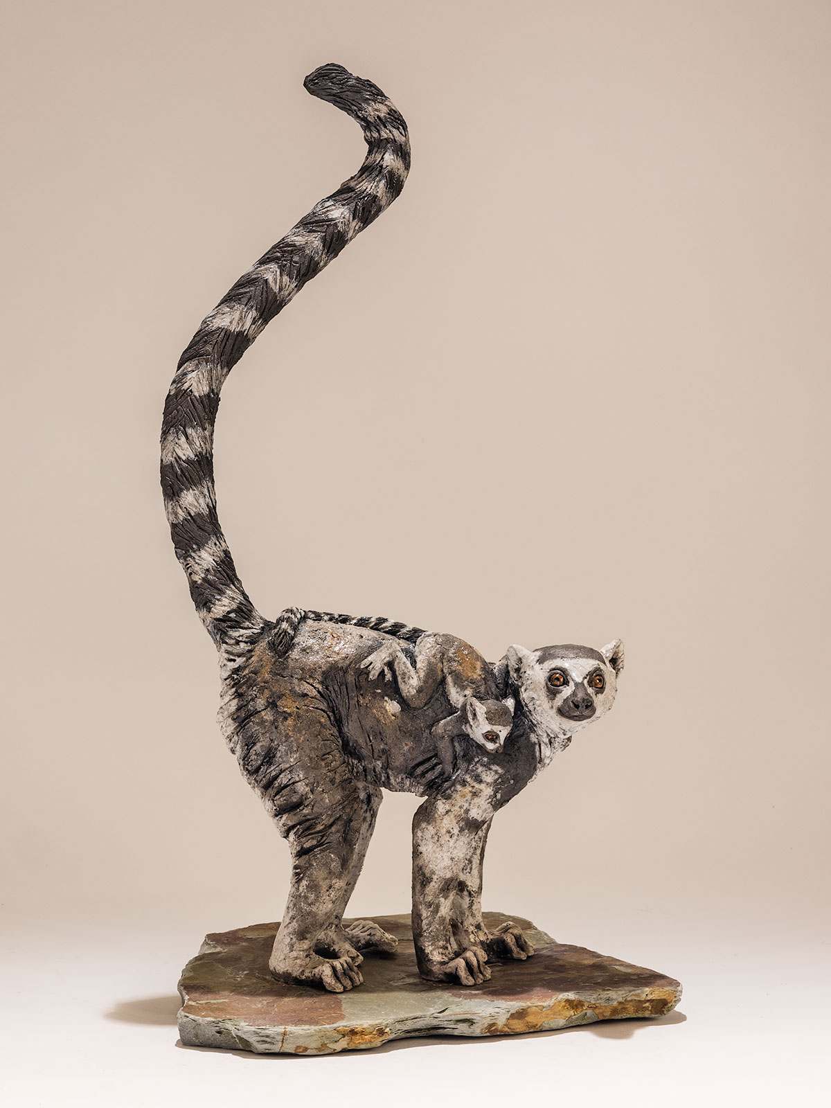 Ring-tailed Lemur Sculpture