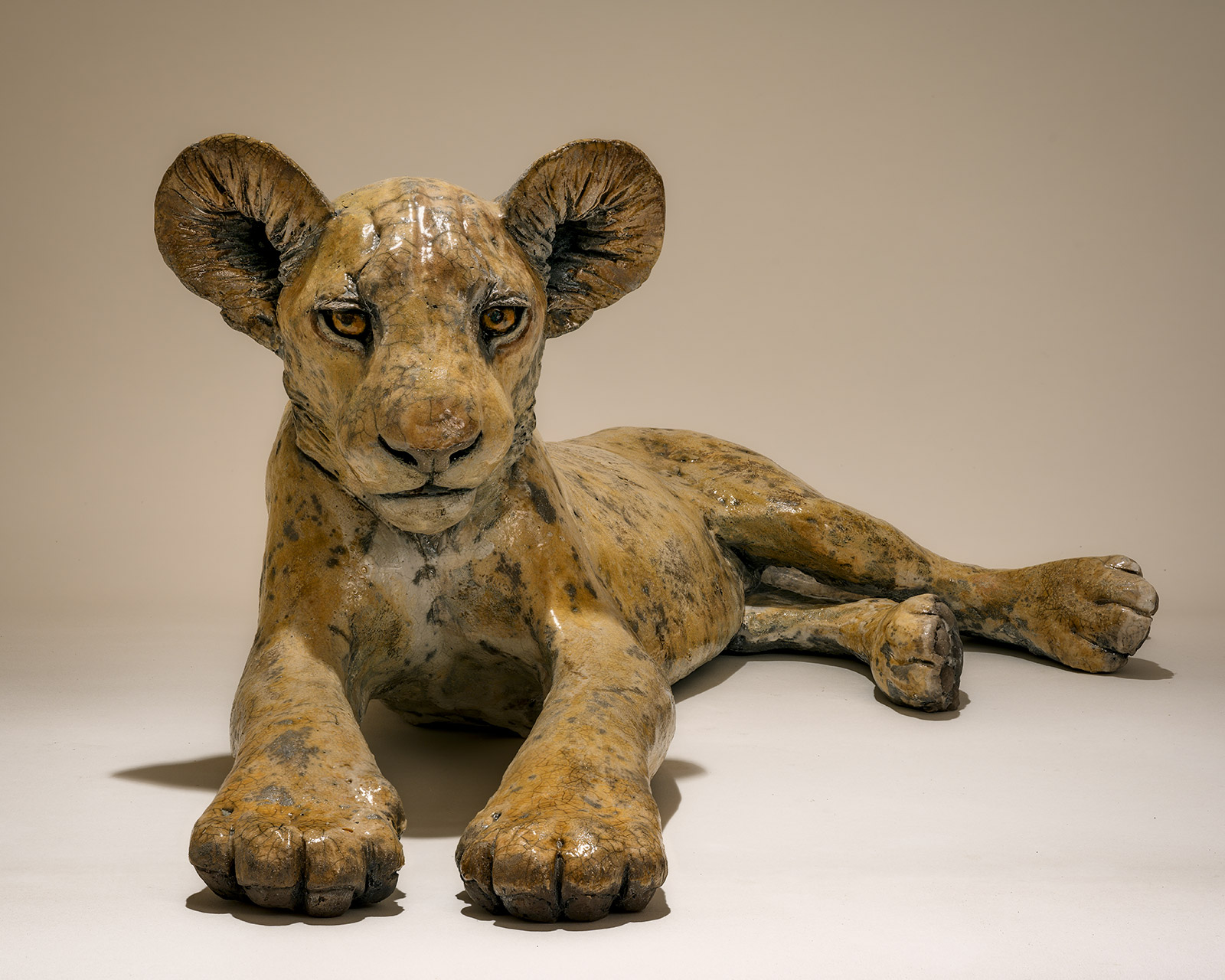 Lion Cub Sculpture