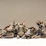 baby warthog sculptures