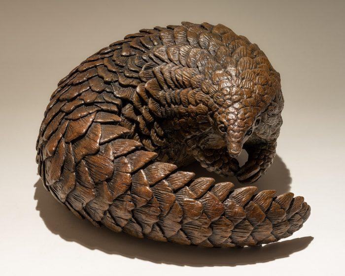 Bronze Pangolin Sculpture