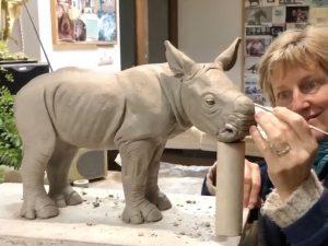 Rhino Sculpture Making