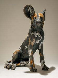 Wild. Dog Sculpture